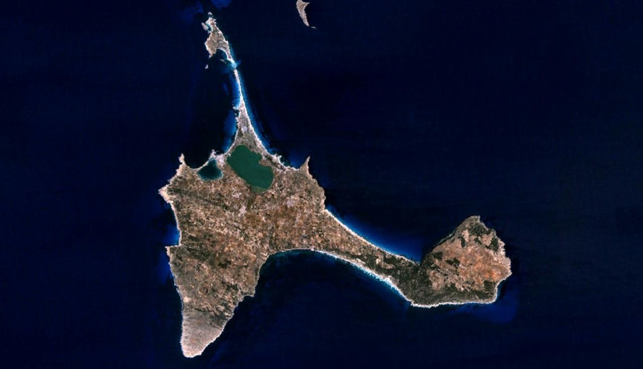 Mapa satelital de Isla Formentera