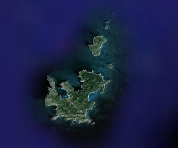Mapa satelital del Archipiélago de Cabrera