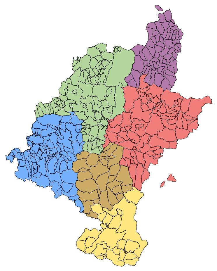 Mapa de Merindades históricas de Navarra 2007
