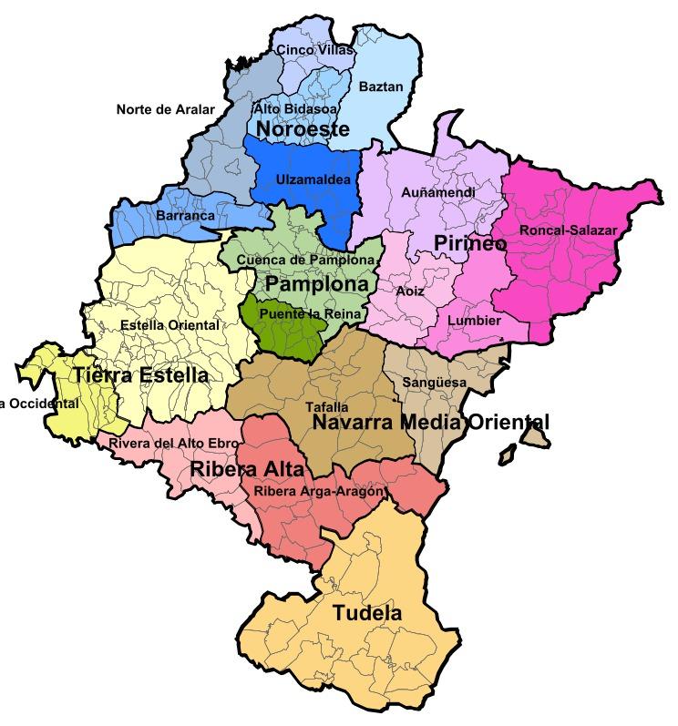 Mapa de Zonificación de Navarra 2000