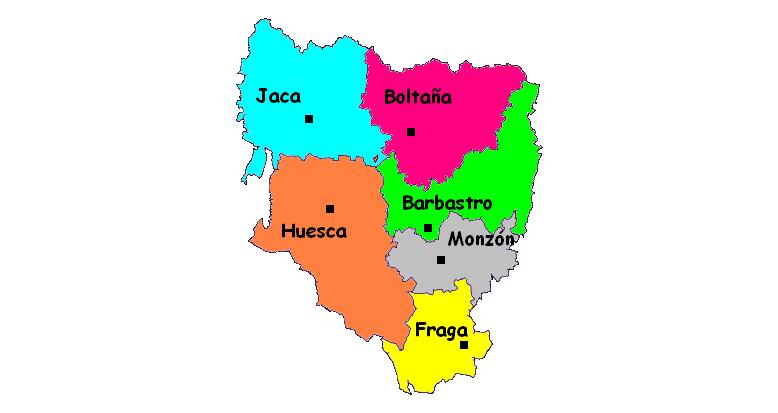 Partidos Judiciales de la Provincia de Huesca 2006