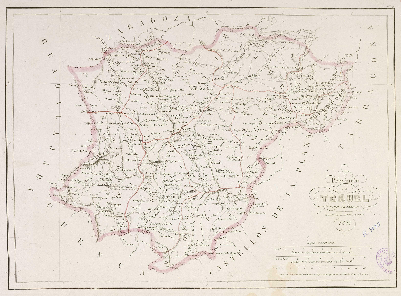 Provincia de Teruel 1853