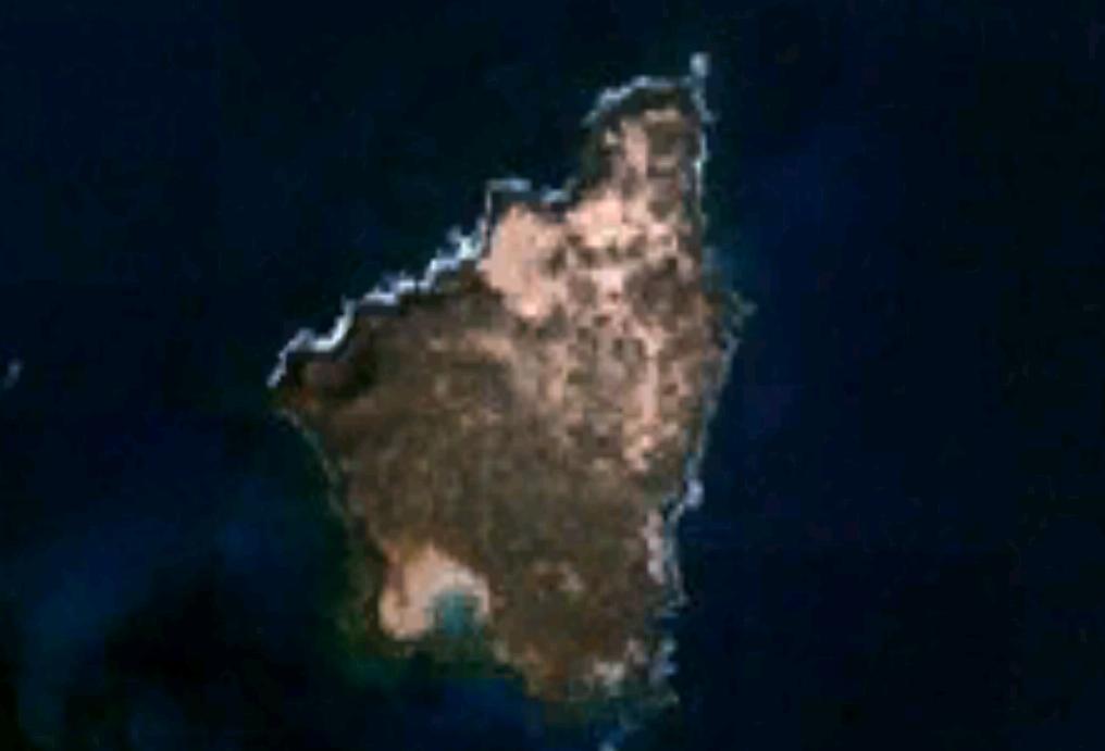 Imagen, foto satelite de la Isla de Lobos