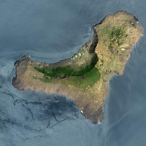 El Hierro Island satellite image