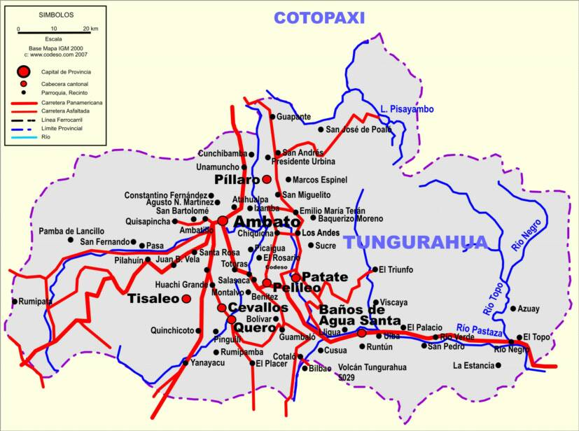 Tungurahua road map