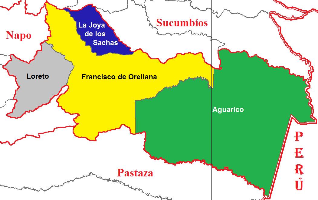 Cantones de Orellana 2011