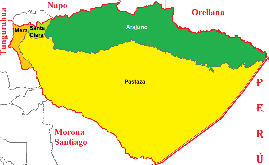 Cantons of Pastaza 2011