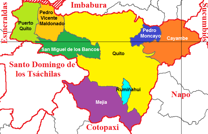 Cantons of Pichincha 2011