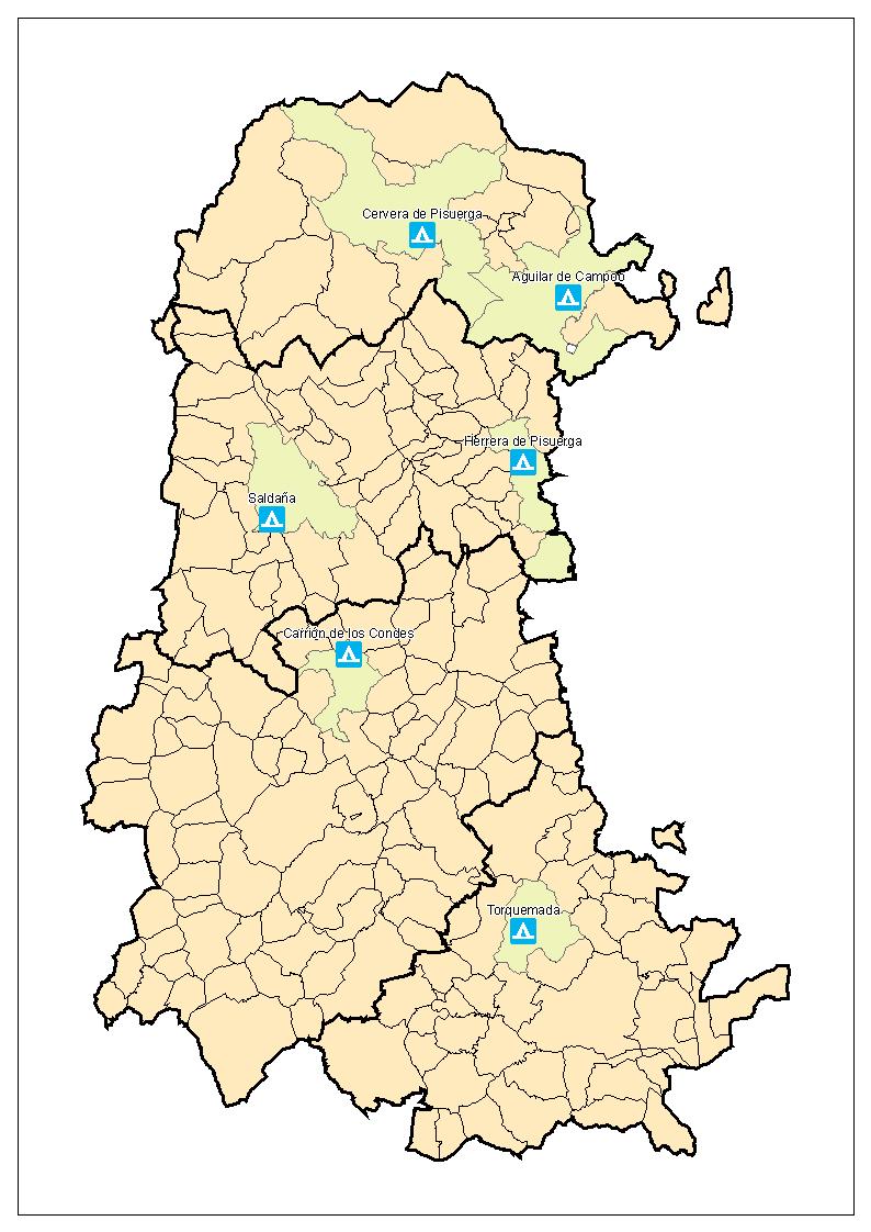 Campings en la Provincia de Palencia 2007
