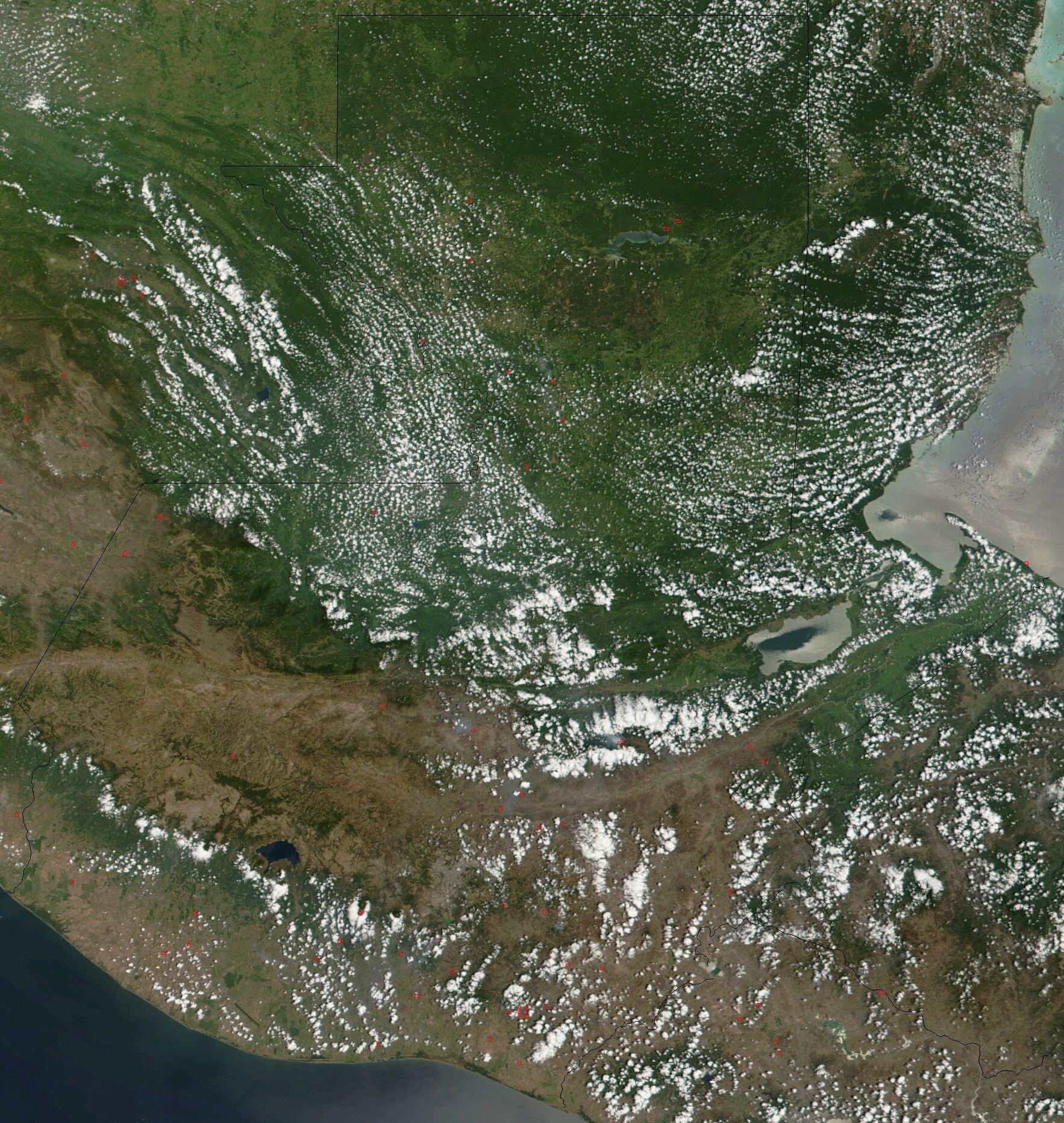 Imagen de satélite de Guatemala
