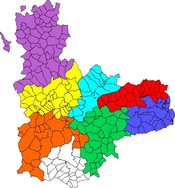 Comarcas of the Province of Valladolid 2007