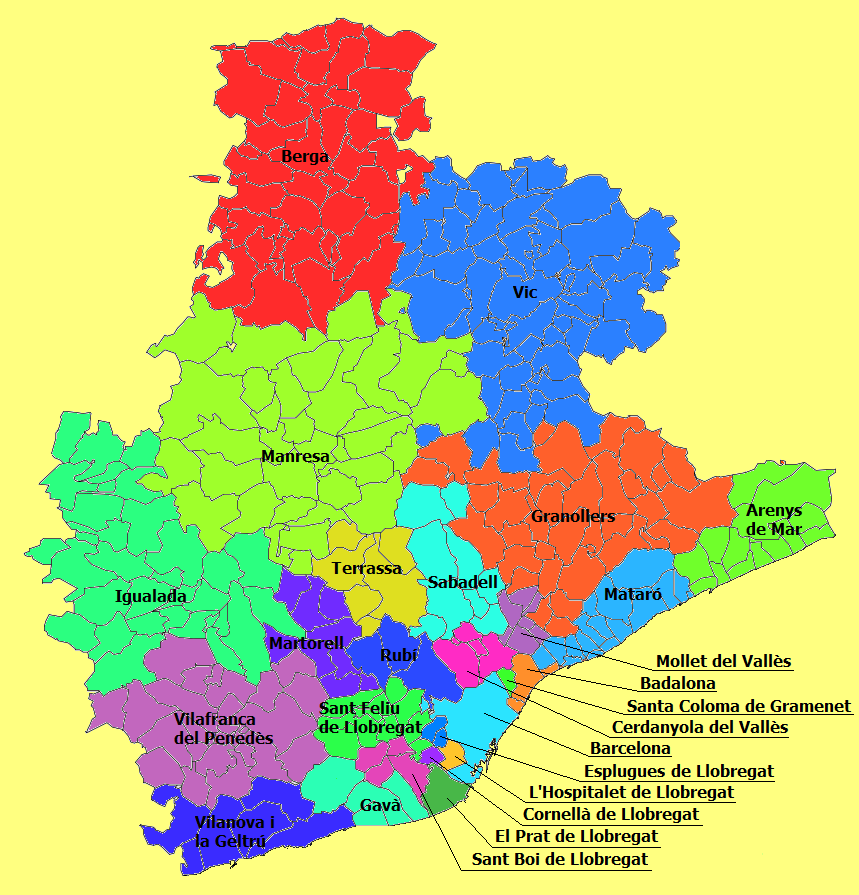 Judicial Parties of the Province of Barcelona 2010