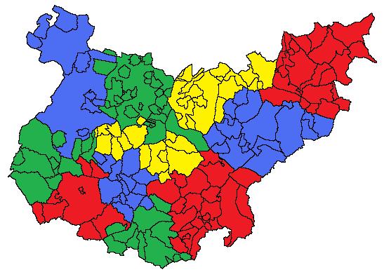 Comarcas de la Provincia de Badajoz 2010