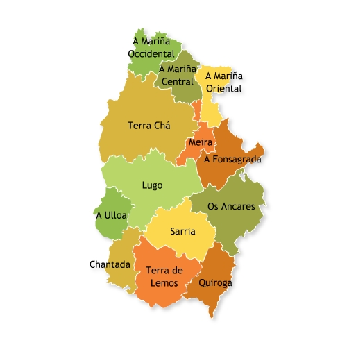 Comarcas of the Province of Lugo