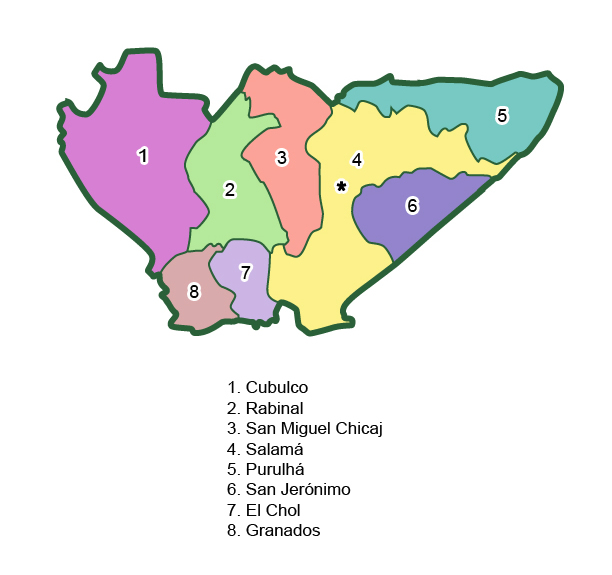 Municipios de Baja Verapaz