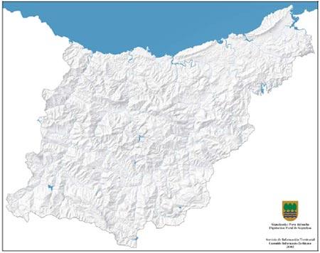 Physical map of Gipuzkoa