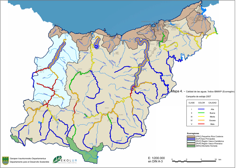 Mapa hidrográfico de Guipúzcoa 2007
