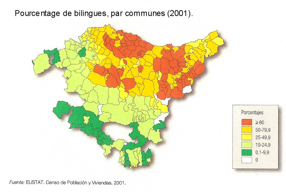 Bilingualism in the Basque Country 2001