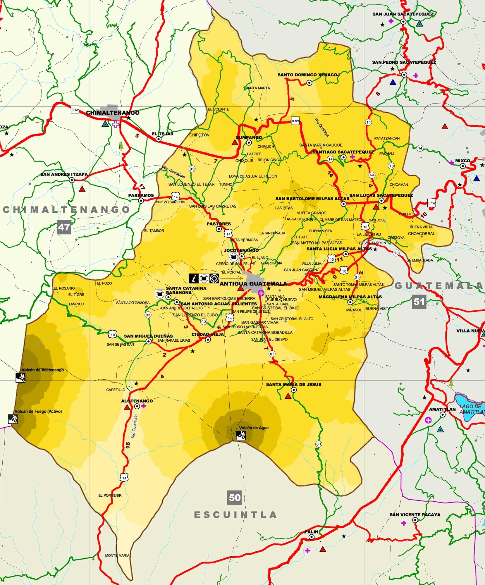 Mapa de Sacatepéquez