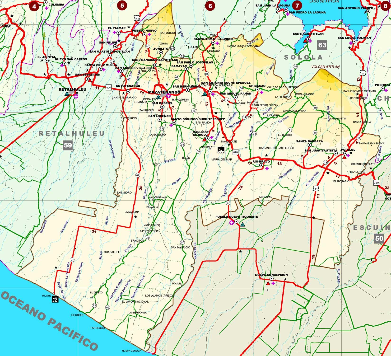 Map of Suchitepéquez