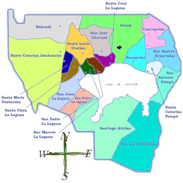 Mapa político de Sololá