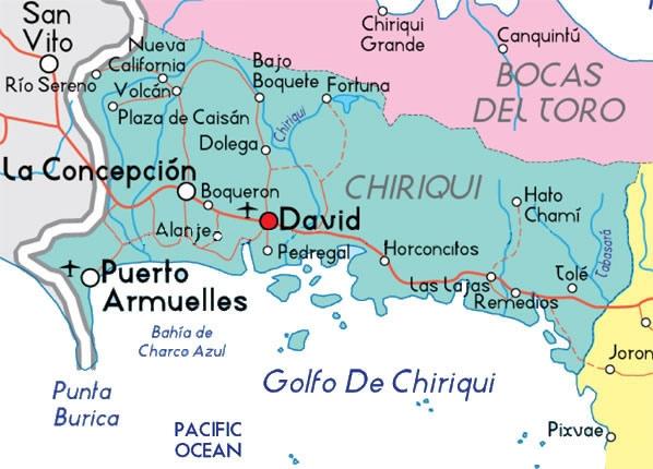 Chiriquí map