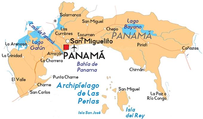 Mapa de la Provincia de Panamá