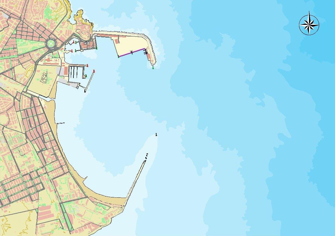 Mapa del puerto de Melilla
