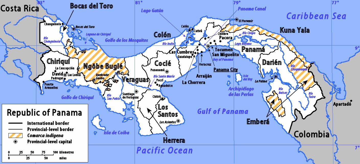 Comarcas indígenas de Panamá 2006