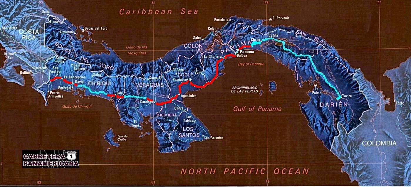 The Panamanian Pan-American Highway