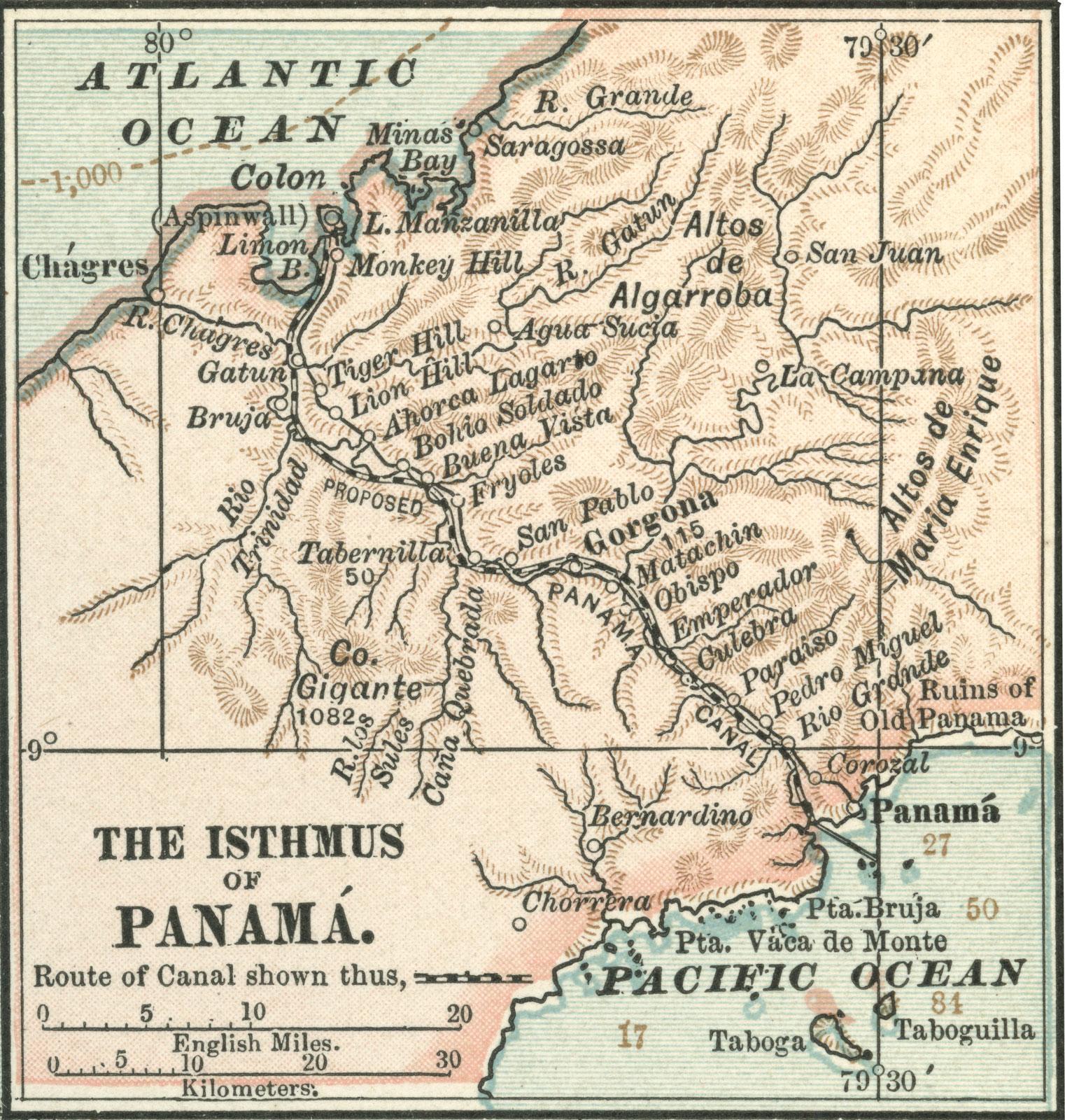 The isthmus of Panamá