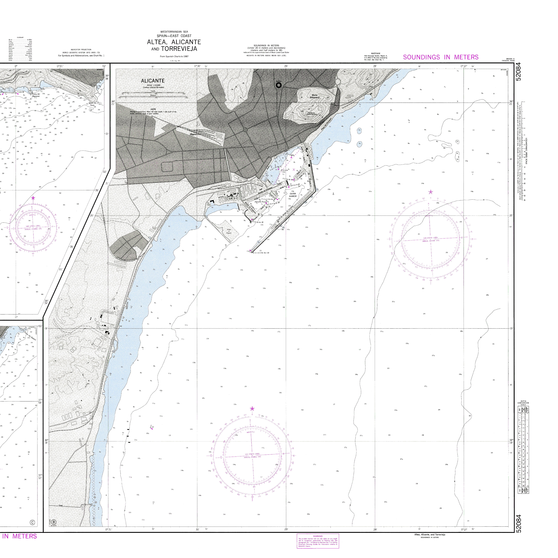 Carta náutica del Puerto de Alicante