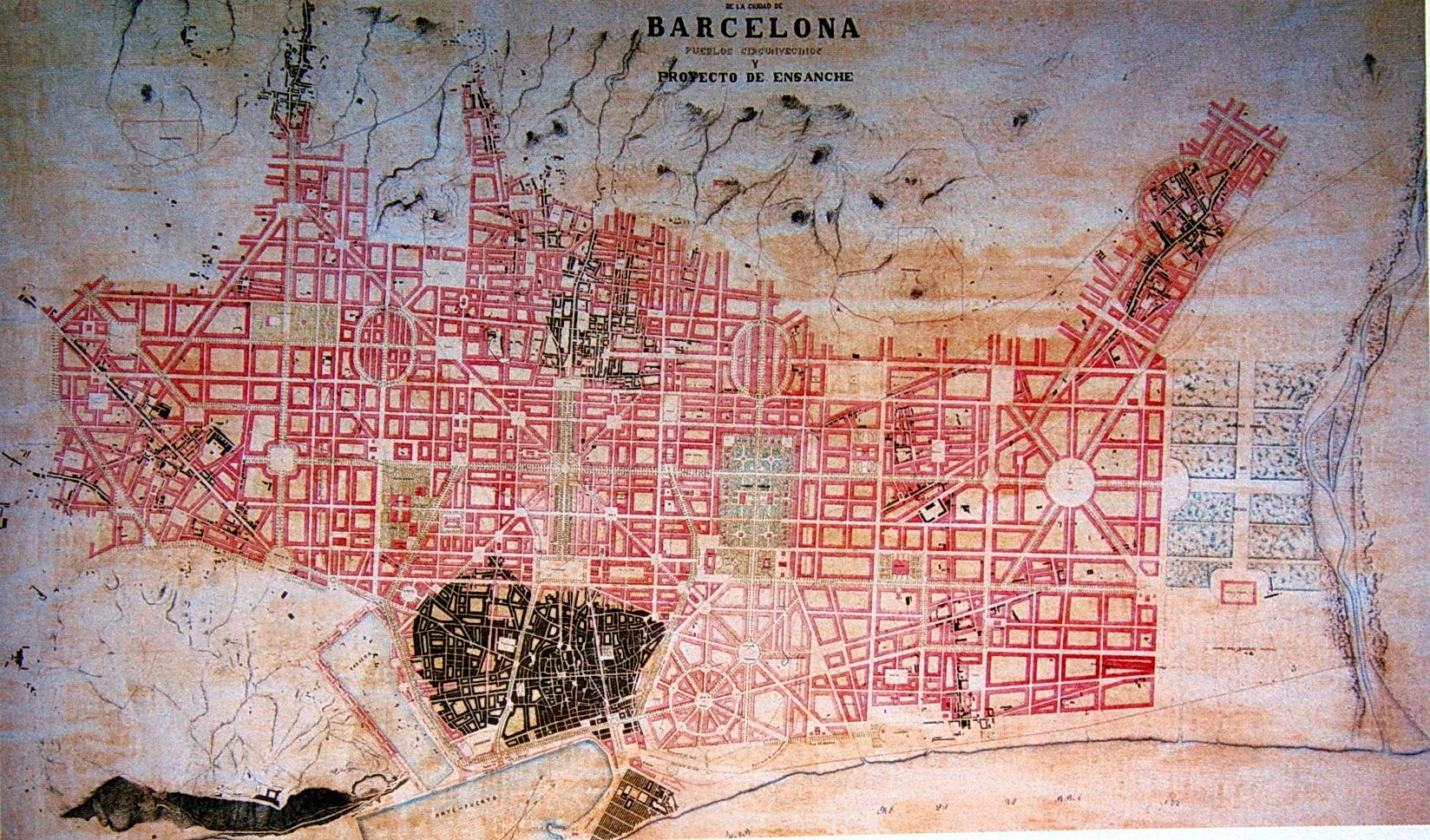 Proyecto de ensanche de Josep Fontserè i Mestre 1859