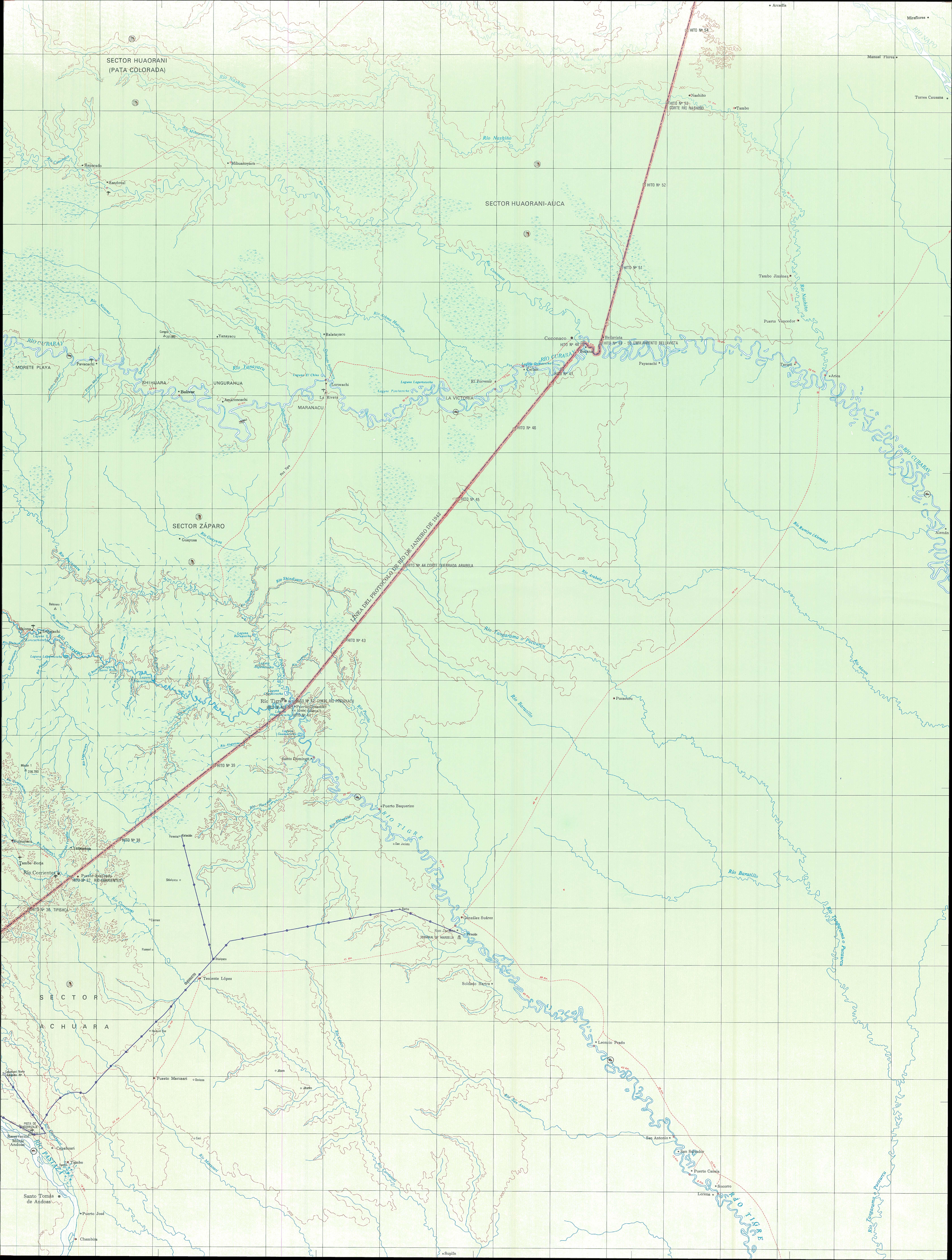 Topographic map of the Amazon Region 4