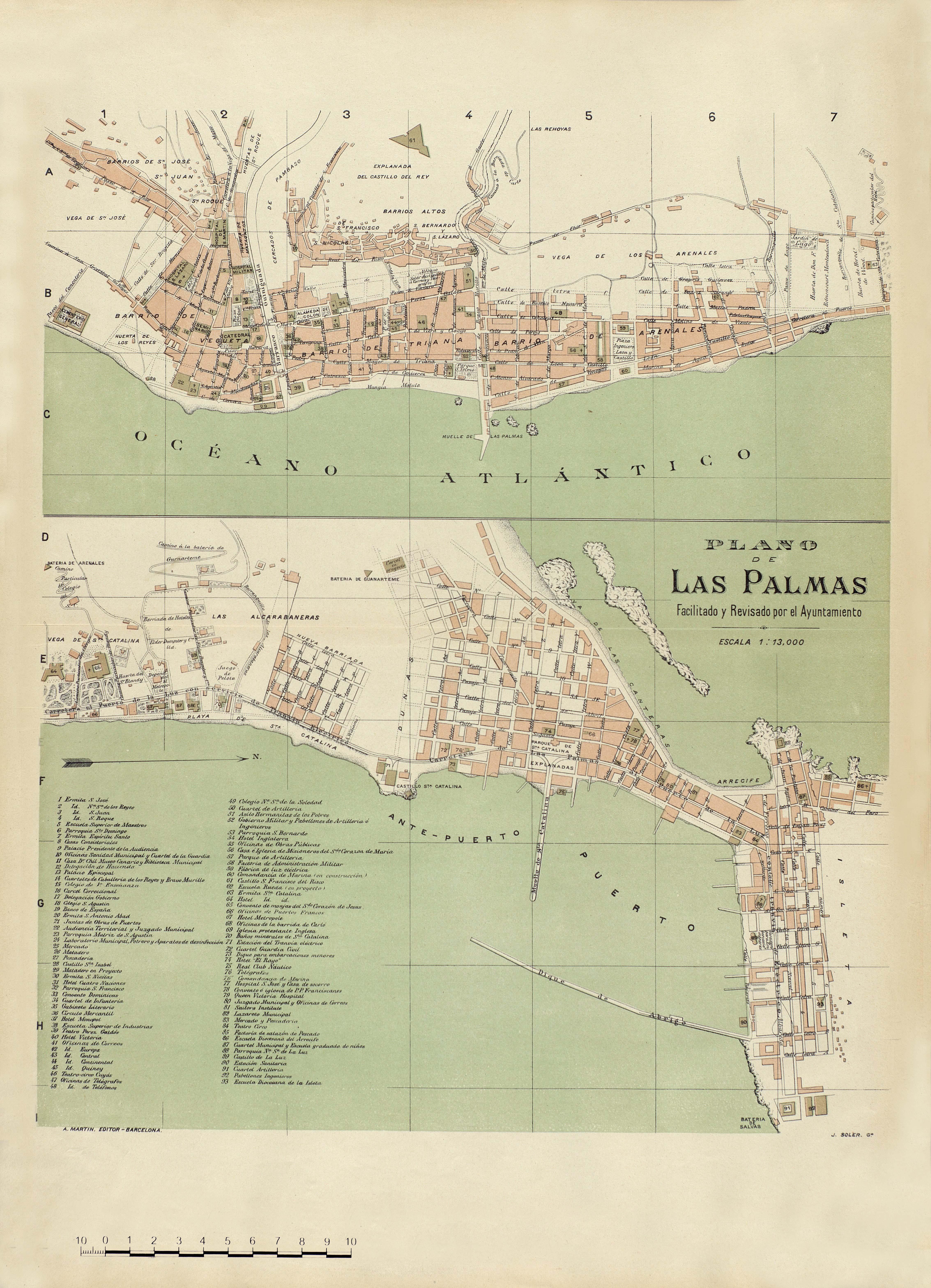 Plano de Las Palmas