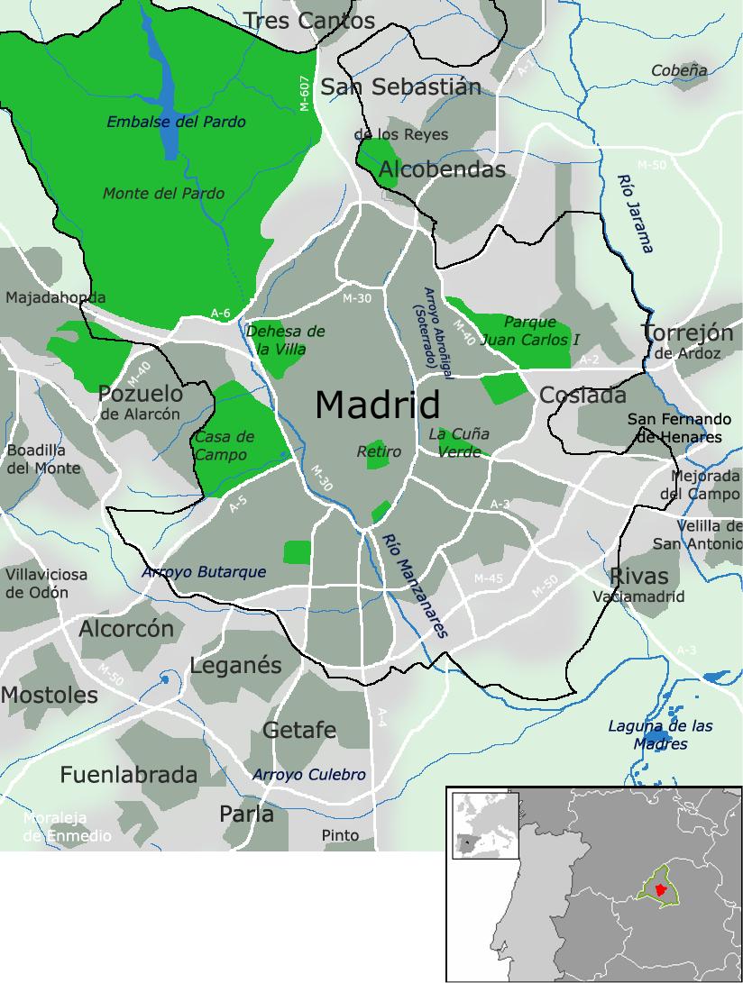 Madrid and surrounding municipalities 2007