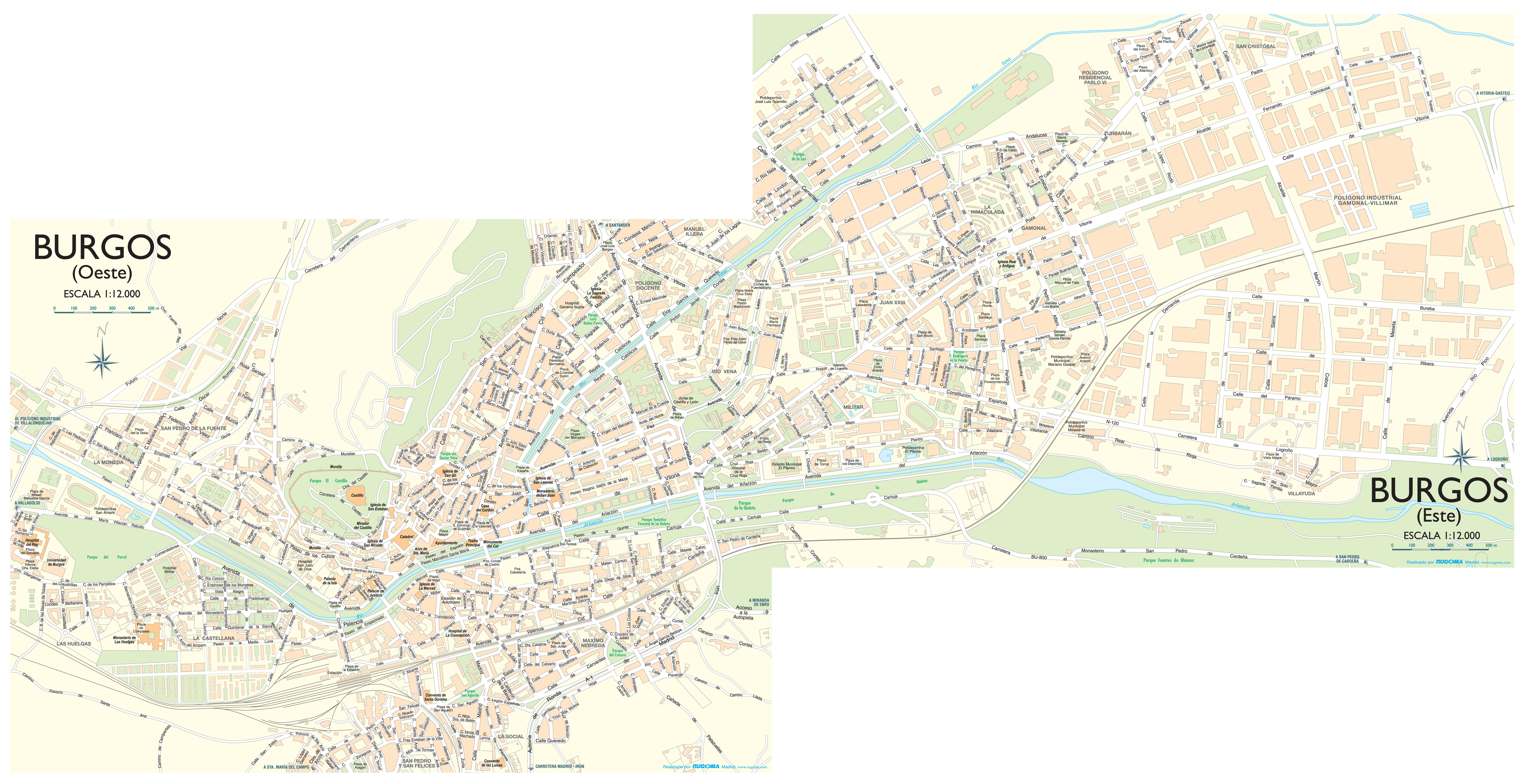 Mapa de Burgos