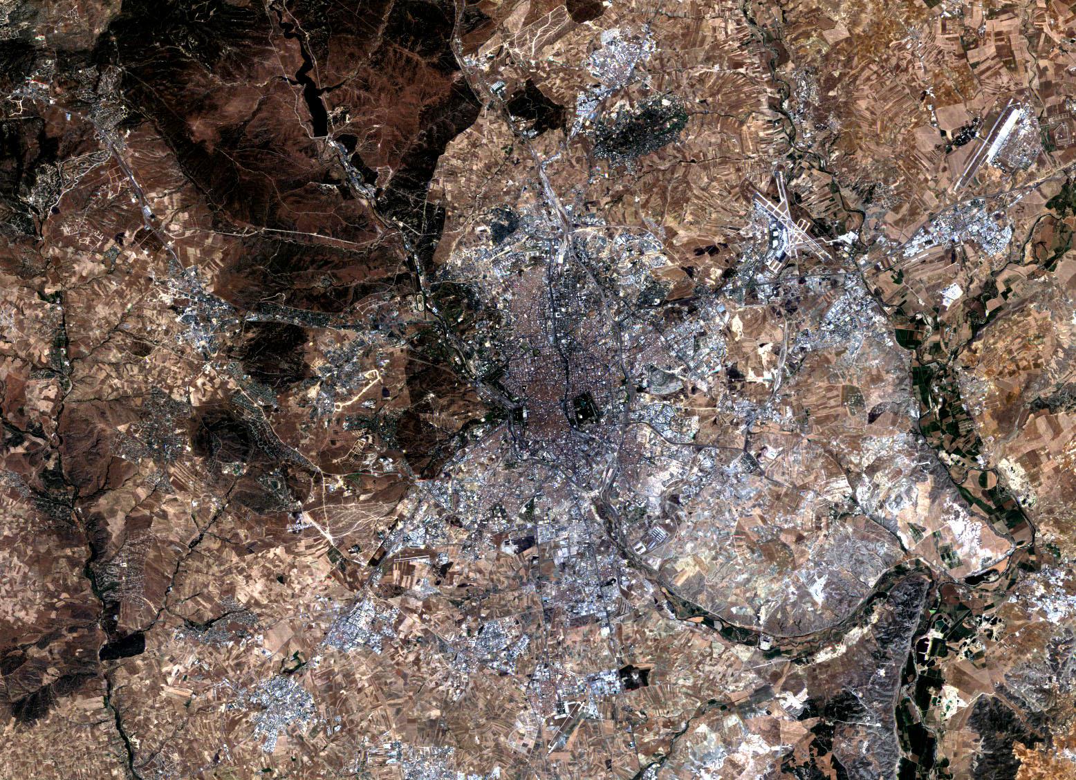 Imagen satelital de Madrid 1984