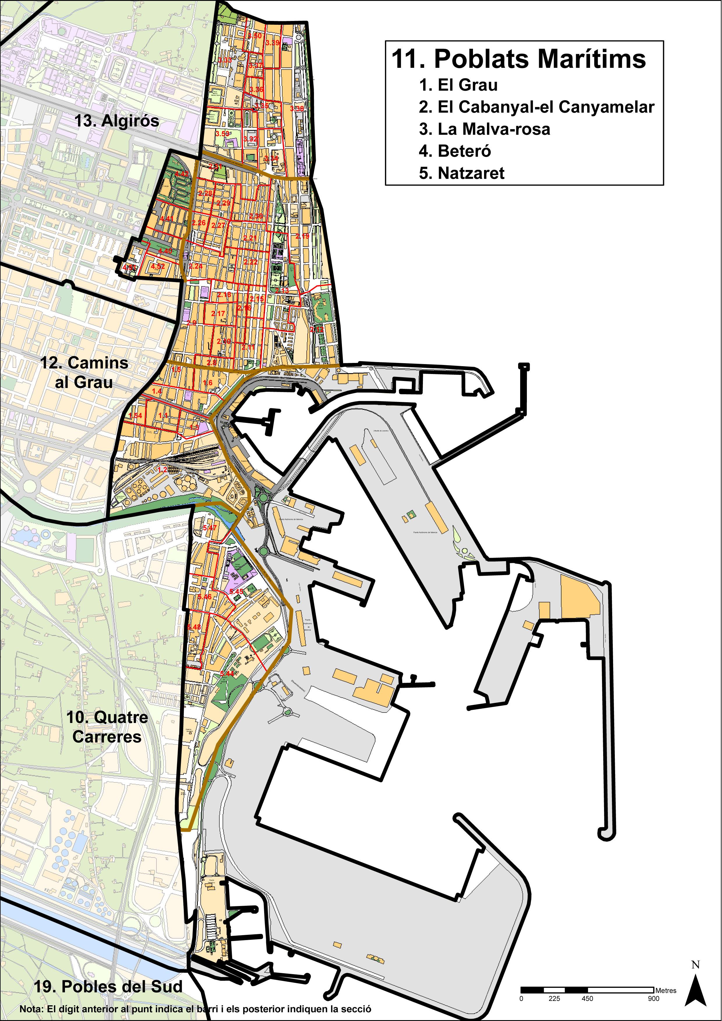 Poblats Marítims districts, Valencia