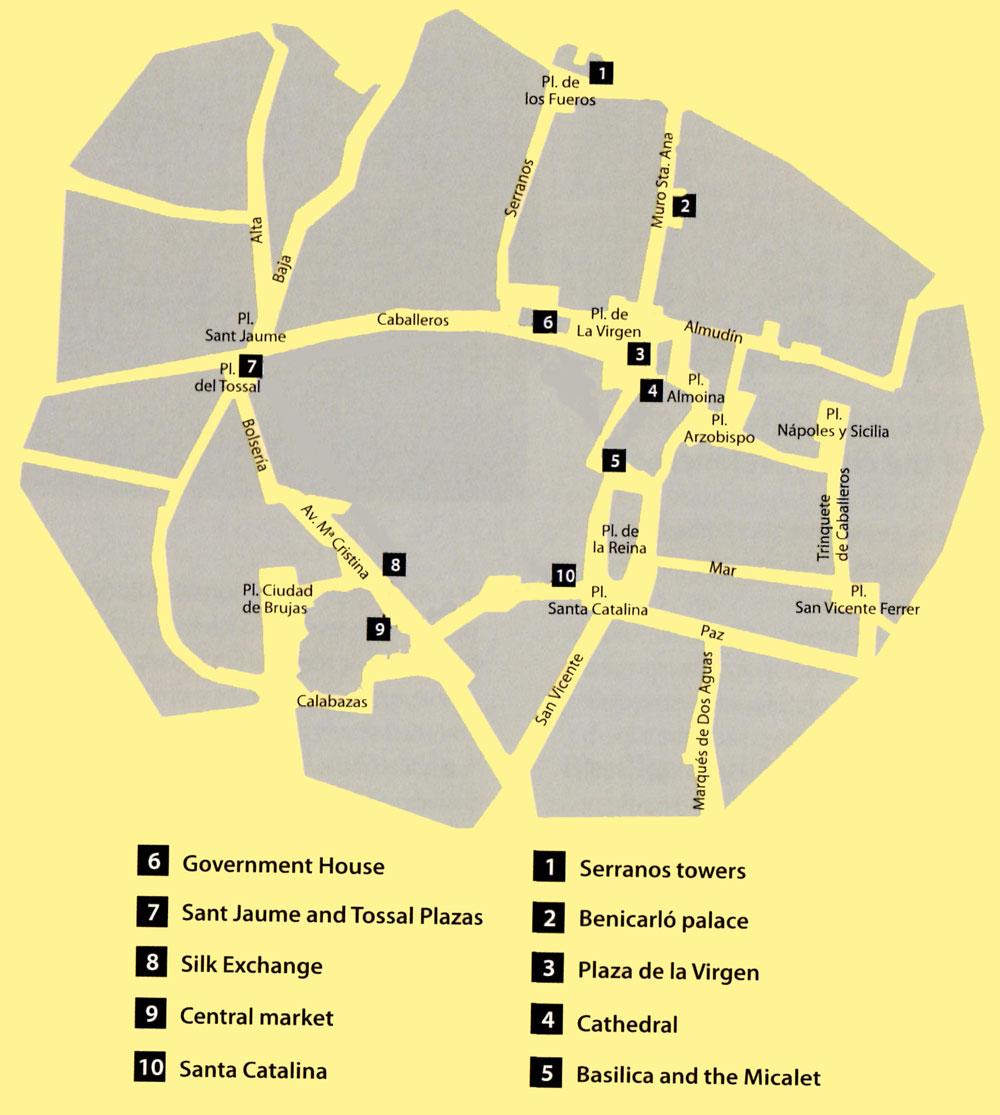 Casco histórico de Valencia