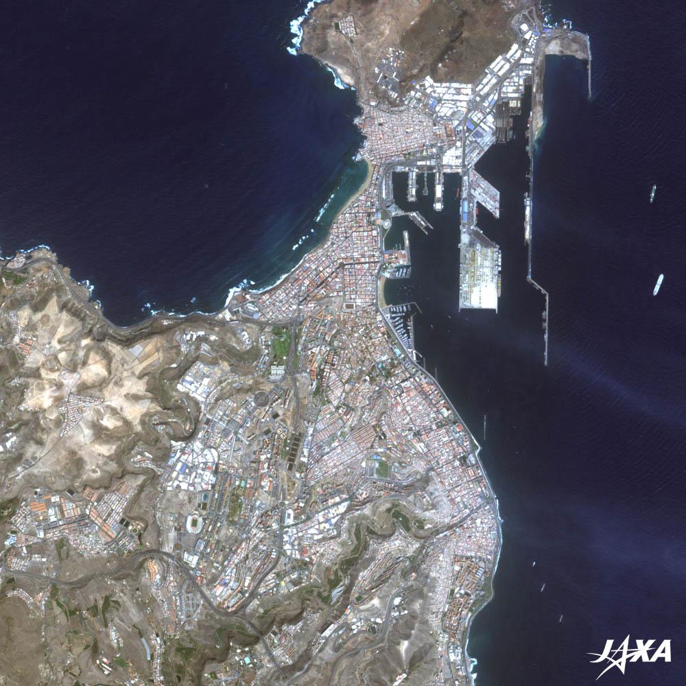 Mapa satelital de Las Palmas