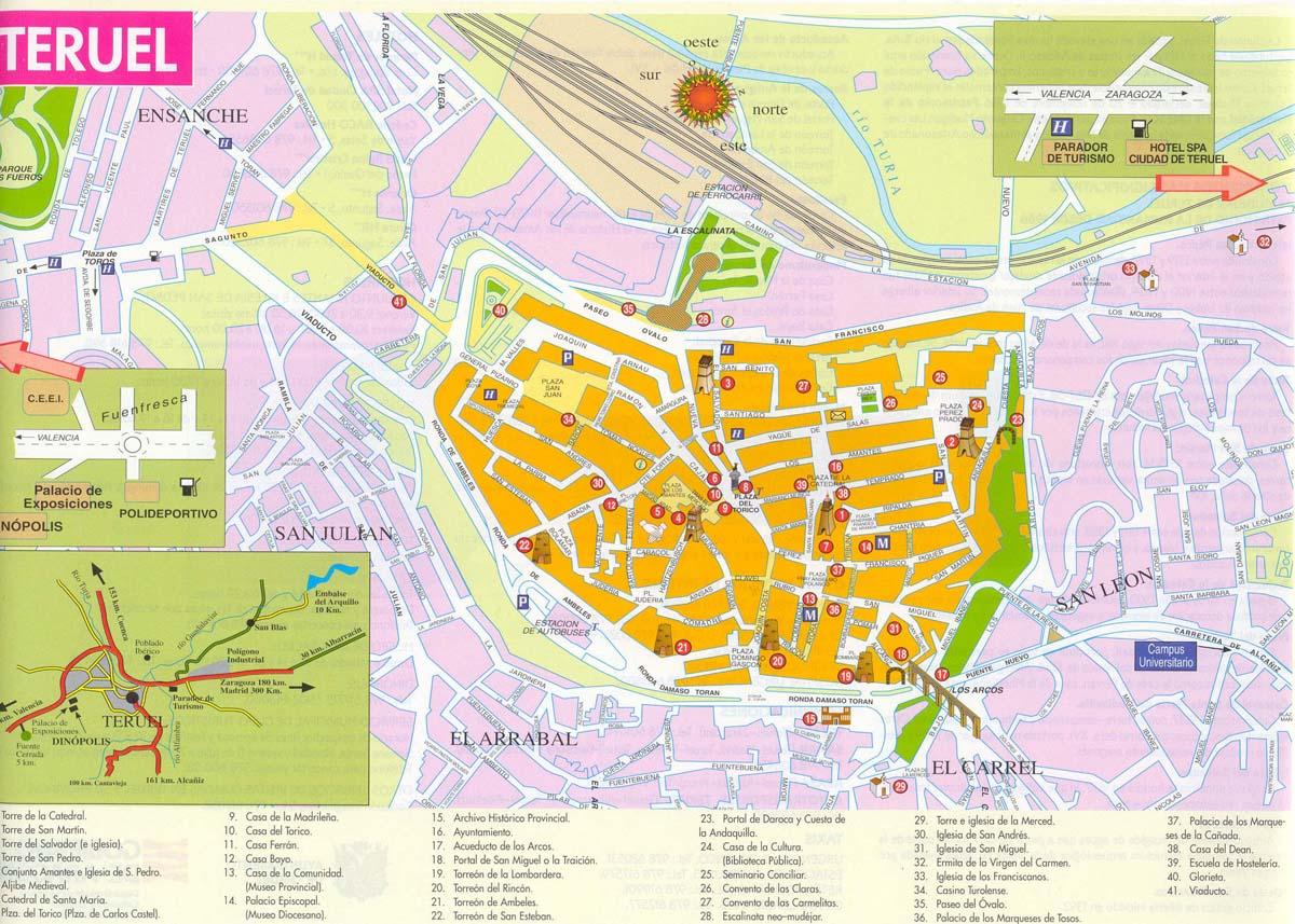 Mapa turístico de Teruel