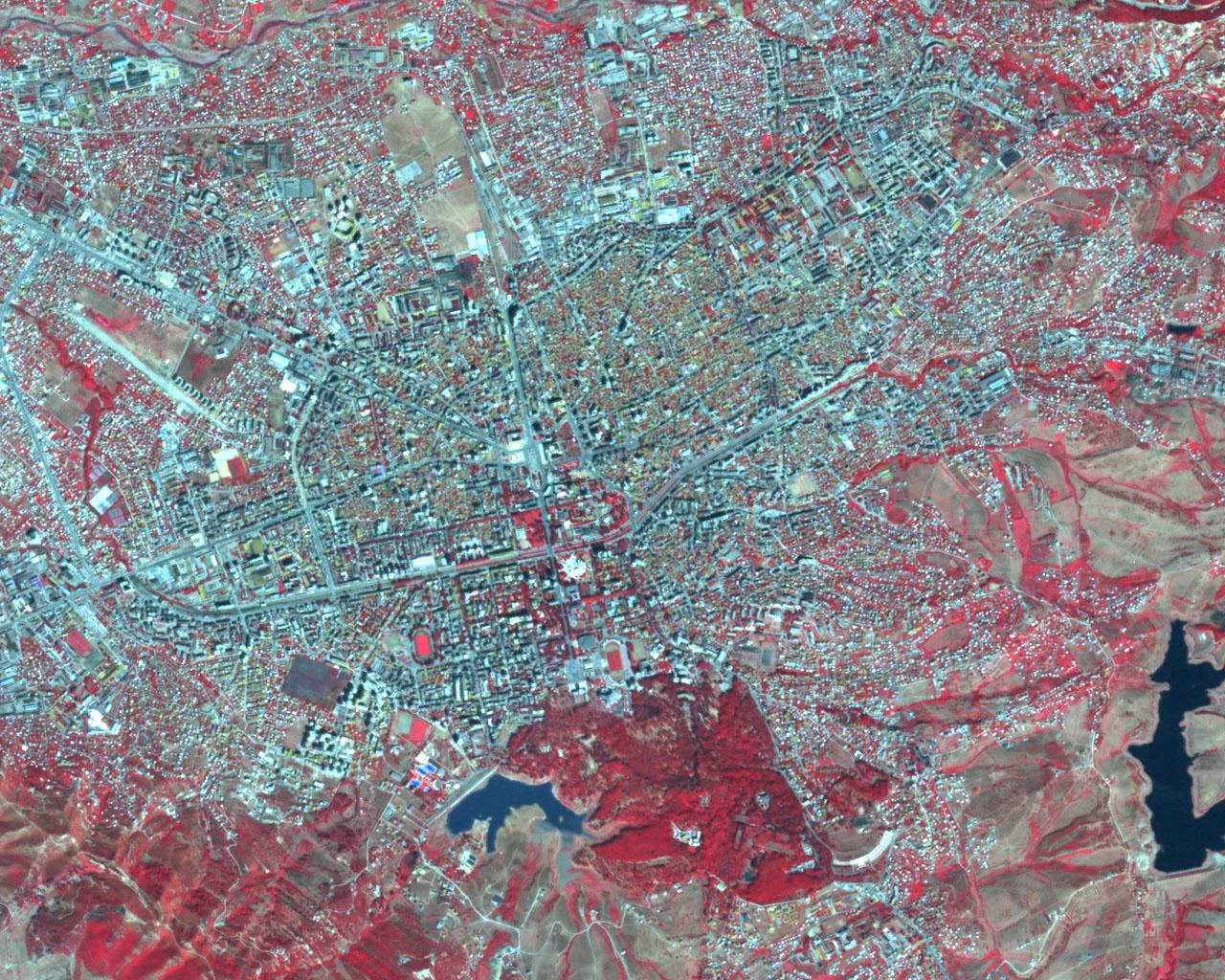 Satellite map of Tirana