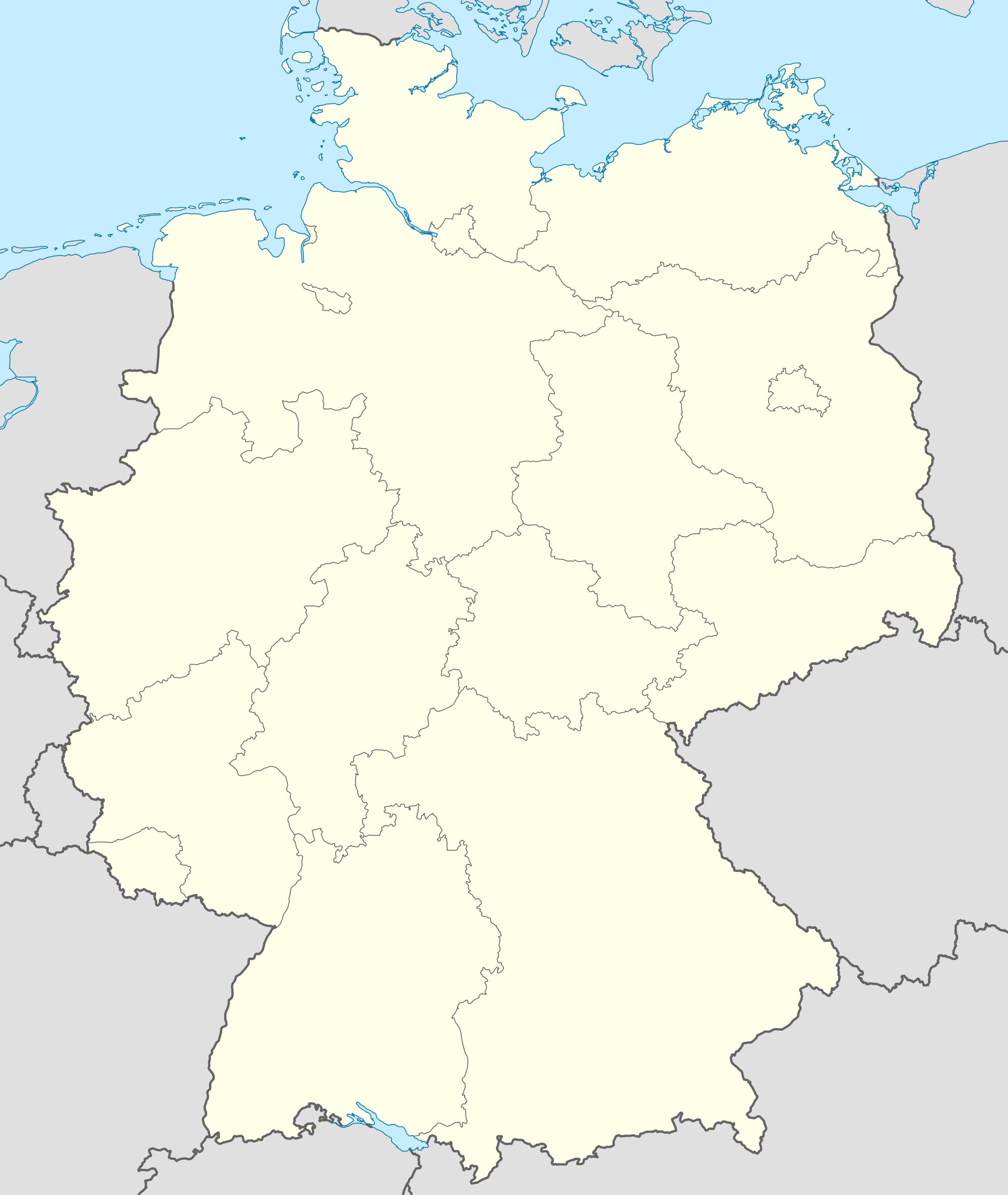 Mapa mudo de Alemania