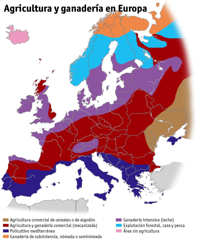 Agricultura y ganadería en Europa 2005