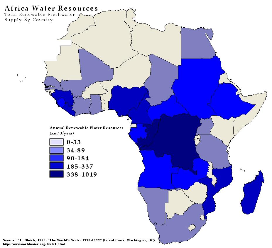Agua dulce en África 1998