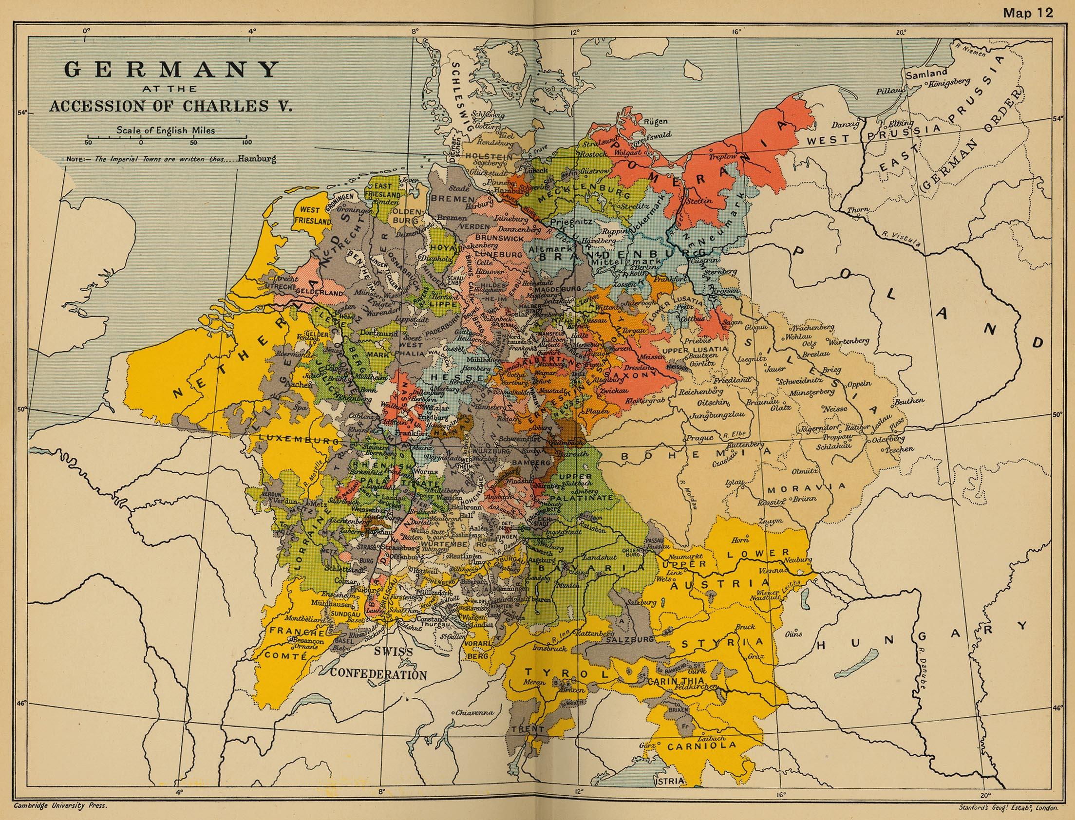 Alemania a la accesión de Carlos V en 1519