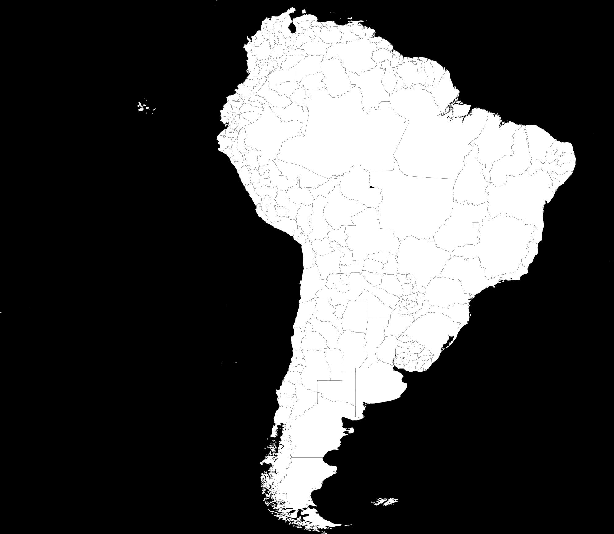 América del Sur, divisiones político-administrativas de primer nivel