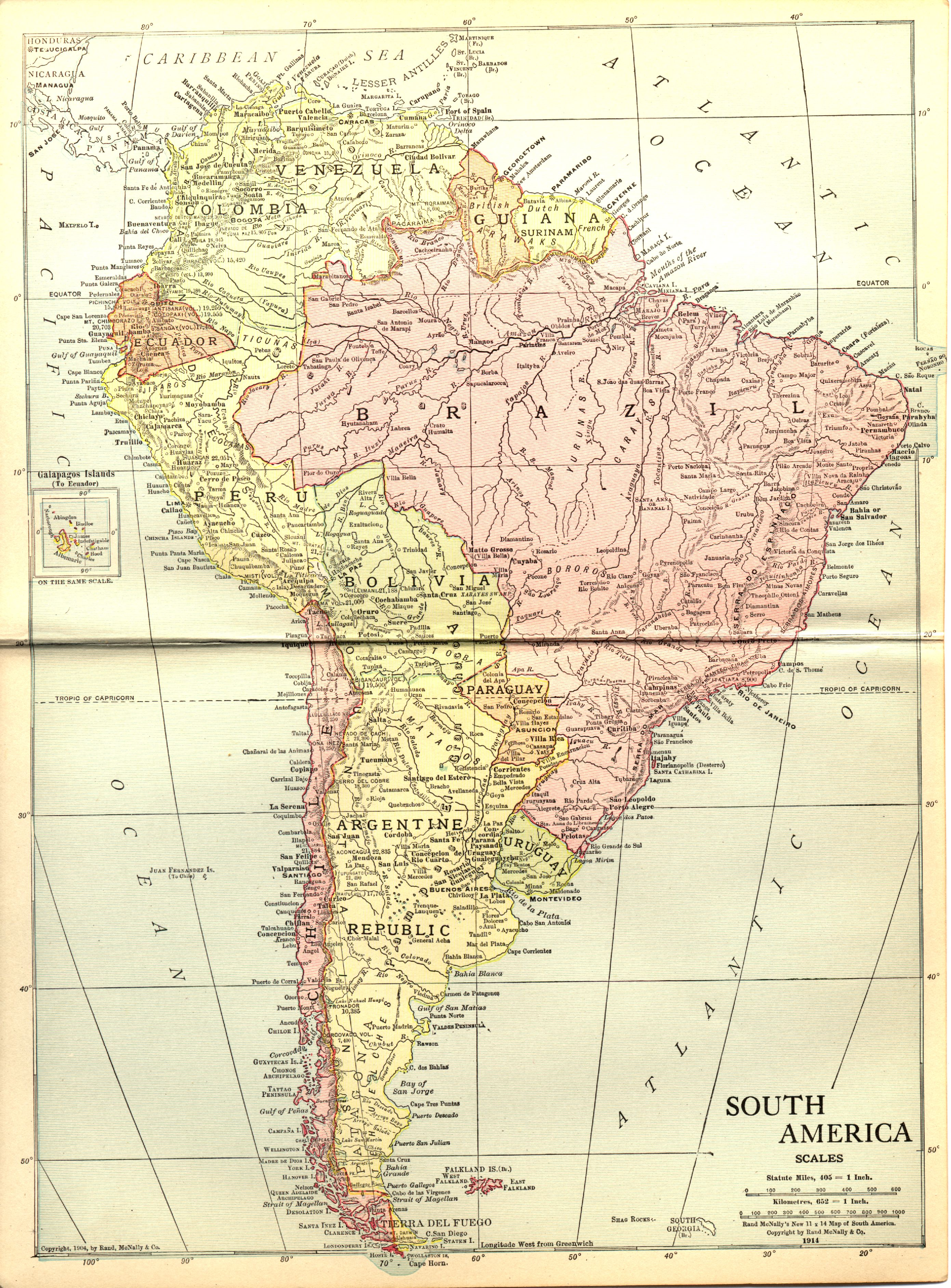 South America in 1914
