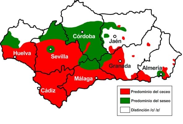 Andalucía ceceante y seseante 2006